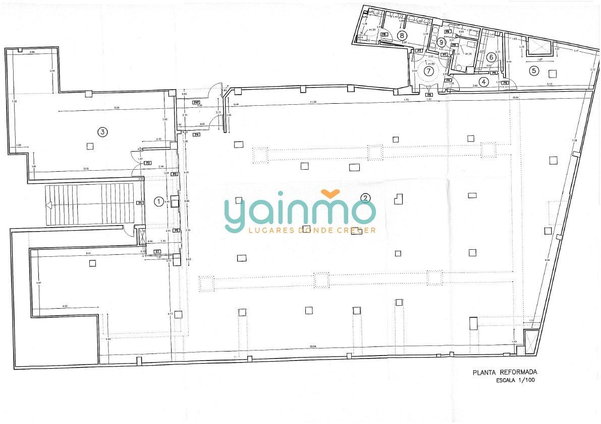 Plano Local Comercial de 800 m2